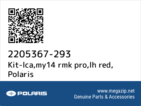 Kit-lca,my14 rmk pro,lh red, Polaris 2205367-293 oem parts
