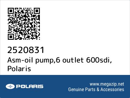Asm-oil pump,6 outlet 600sdi, Polaris 2520831 oem parts