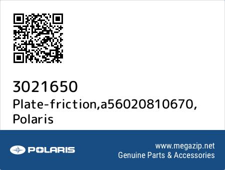 Plate-friction,a56020810670, Polaris 3021650 oem parts