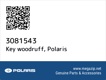 Key woodruff, Polaris 3081543 oem parts
