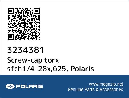 Screw-cap torx sfch1/4-28x,625, Polaris 3234381 oem parts