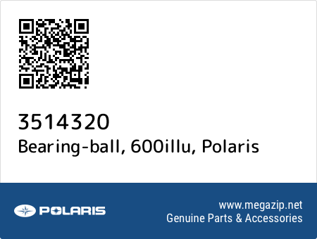Bearing-ball, 600illu, Polaris 3514320 oem parts