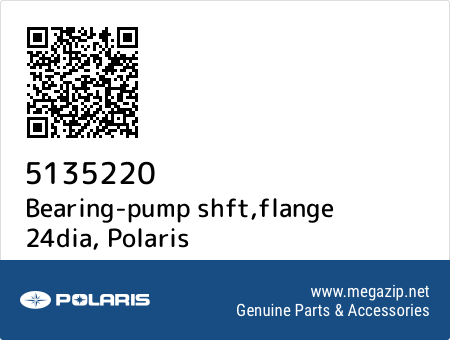 Bearing-pump shft,flange 24dia, Polaris 5135220 oem parts