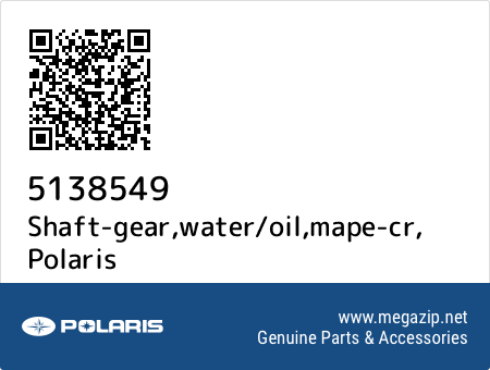 Shaft-gear,water/oil,mape-cr, Polaris 5138549 oem parts