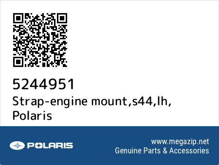 Strap-engine mount,s44,lh, Polaris 5244951 oem parts