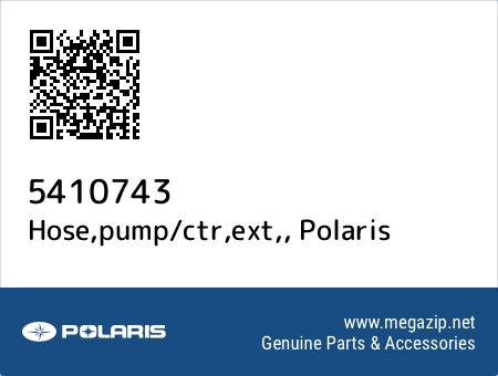 Hose,pump/ctr,ext,, Polaris 5410743 oem parts