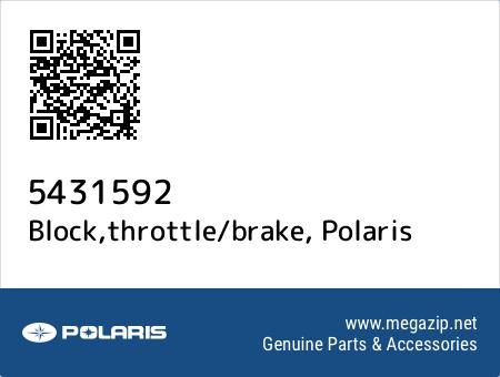Block,throttle/brake, Polaris 5431592 oem parts