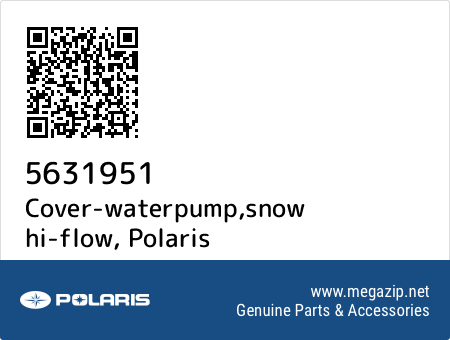 Cover-waterpump,snow hi-flow, Polaris 5631951 oem parts