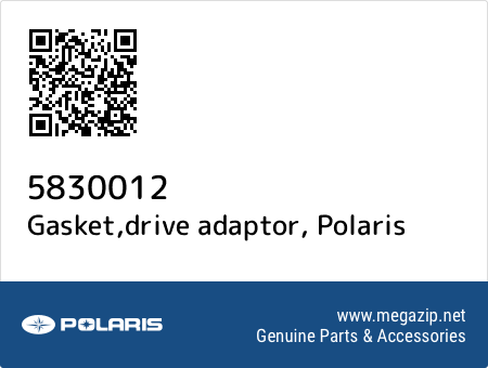 Gasket,drive adaptor, Polaris 5830012 oem parts