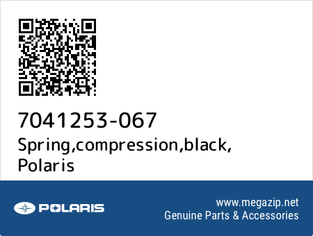 Spring,compression,black, Polaris 7041253-067 oem parts