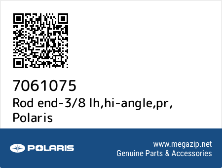Rod end-3/8 lh,hi-angle,pr, Polaris 7061075 oem parts
