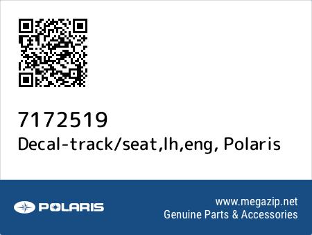Decal-track/seat,lh,eng, Polaris 7172519 oem parts
