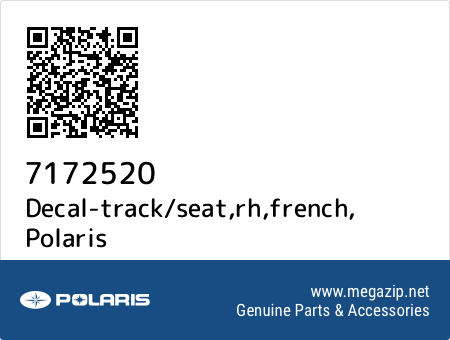 Decal-track/seat,rh,french, Polaris 7172520 oem parts