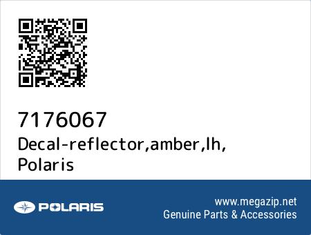 Decal-reflector,amber,lh, Polaris 7176067 oem parts