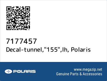 "Decal-tunnel,""155"",lh, Polaris 7177457 oem parts"