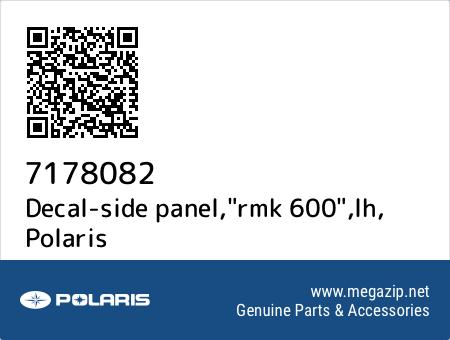 """Decal-side panel,""""rmk 600"""",lh, Polaris 7178082 oem parts"""