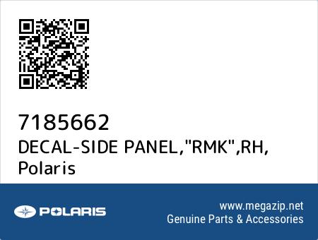 "DECAL-SIDE PANEL,""RMK"",RH, Polaris 7185662 oem parts"