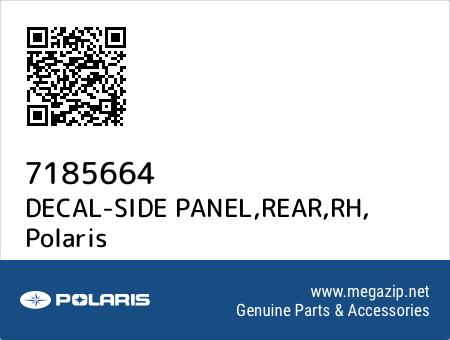 DECAL-SIDE PANEL,REAR,RH, Polaris 7185664 oem parts