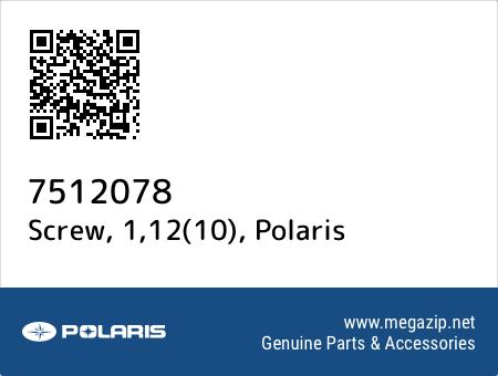 Screw, 1,12(10), Polaris 7512078 oem parts