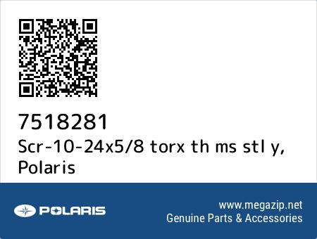 Scr-10-24x5/8 torx th ms stl y, Polaris 7518281 oem parts