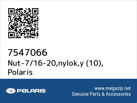 Nut-7/16-20,nylok,y (10), Polaris 7547066 oem parts