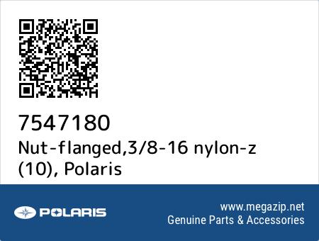 Nut-flanged,3/8-16 nylon-z (10), Polaris 7547180 oem parts