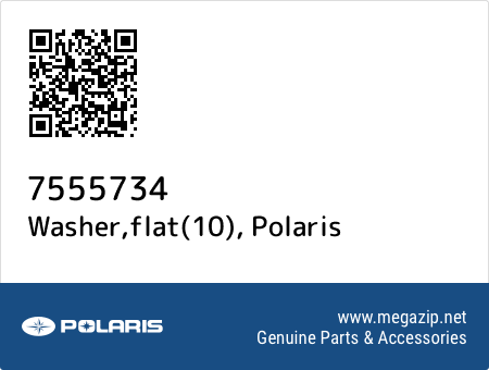 Washer,flat(10), Polaris 7555734 oem parts