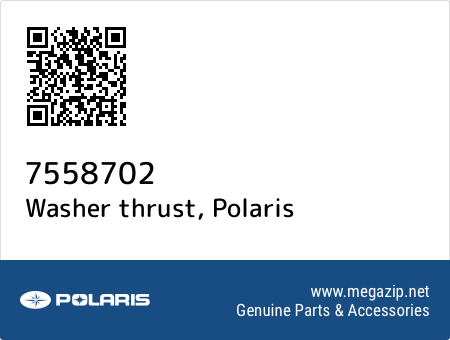 Washer thrust, Polaris 7558702 oem parts