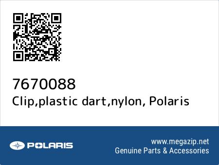 Clip,plastic dart,nylon, Polaris 7670088 oem parts