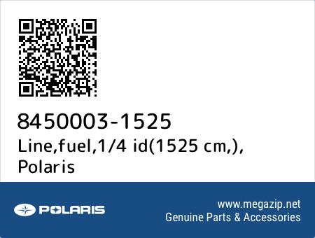 Line,fuel,1/4 id(1525 cm,), Polaris 8450003-1525 oem parts