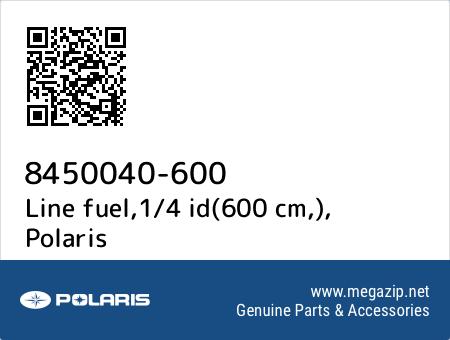 Line fuel,1/4 id(600 cm,), Polaris 8450040-600 oem parts