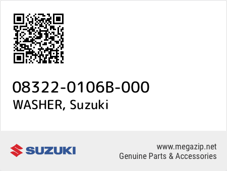 WASHER, Suzuki 08322-0106B-000 oem parts