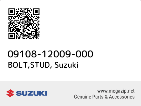 BOLT,STUD, Suzuki 09108-12009-000 oem parts