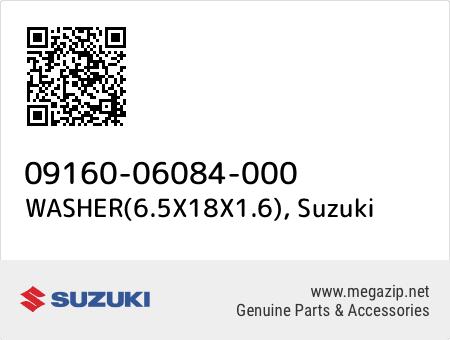 WASHER(6.5X18X1.6), Suzuki 09160-06084-000 oem parts