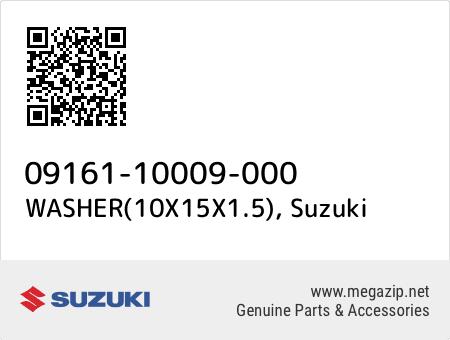 WASHER(10X15X1.5), Suzuki 09161-10009-000 oem parts