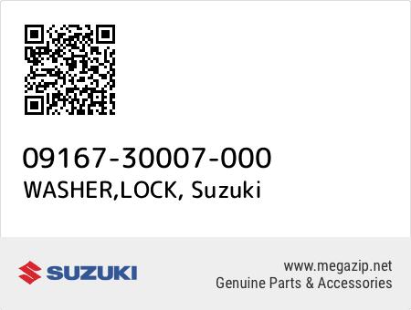 WASHER,LOCK, Suzuki 09167-30007-000 oem parts