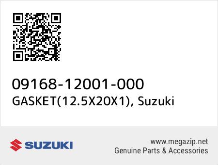 GASKET(12.5X20X1), Suzuki 09168-12001-000 oem parts