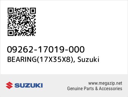 BEARING(17X35X8), Suzuki 09262-17019-000 oem parts
