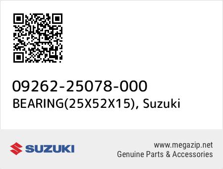 BEARING(25X52X15), Suzuki 09262-25078-000 oem parts