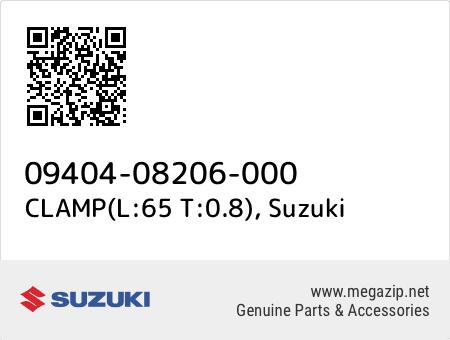 CLAMP(L:65 T:0.8), Suzuki 09404-08206-000 oem parts