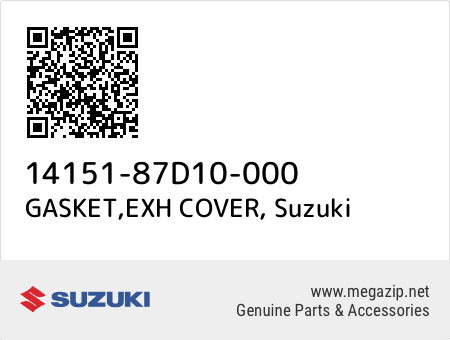 GASKET,EXH COVER, Suzuki 14151-87D10-000 oem parts