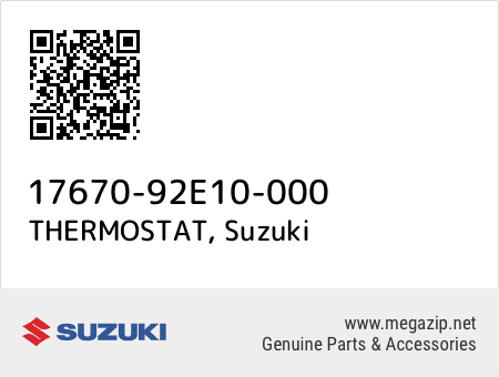 THERMOSTAT, Suzuki 17670-92E10-000 oem parts