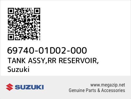TANK ASSY,RR RESERVOIR, Suzuki 69740-01D02-000 oem parts