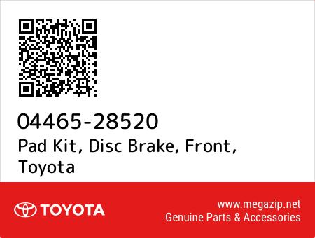 DISC BRAKE FRONT 04465-28520 0446528520 Genuine Toyota PAD KIT