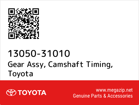 1305031010 Genuine Toyota GEAR ASSY CAMSHAFT TIMING 13050-31010