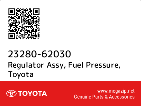 23280-62030 Toyota Regulator assy New Genuine OEM Par fuel pressure 2328062030