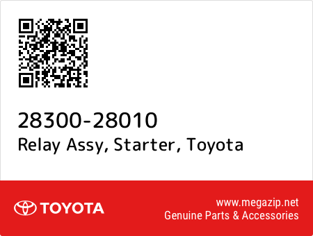 Relay Assy 28300-28010 Starter Genuine Toyota Parts
