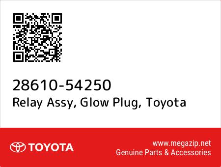 GLOW PLUG 28610-54250 2861054250 Genuine Toyota RELAY ASSY