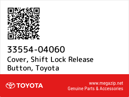 Genuine Toyota Cap Shift Lever 33554-04060