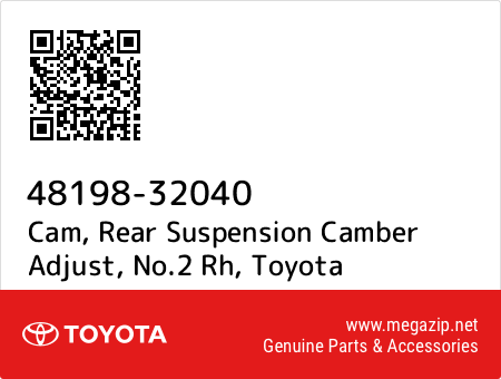 CAMBER ADJUST NO.2 48198-32040 4819832040 Genuine Toyota CAM